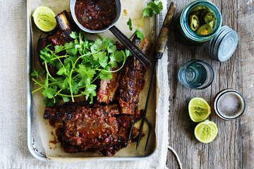 Mexican-style braised beef short ribs