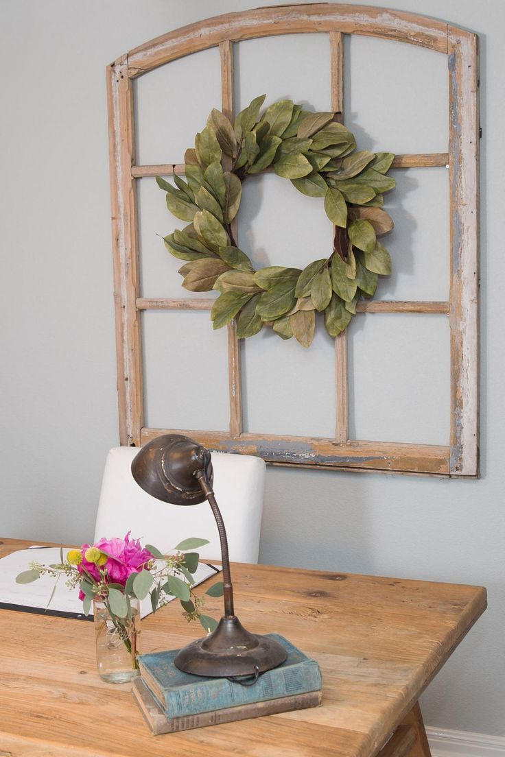 Window frame decor with wreath  best  ideas for the house images on pinterest  creative dream