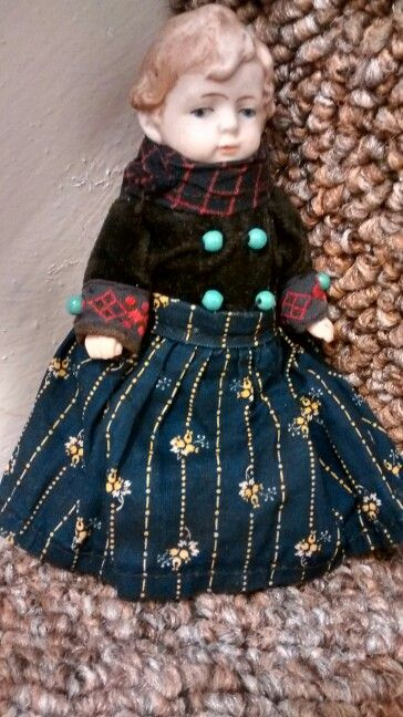 """5"""" all bisque antique doll"""