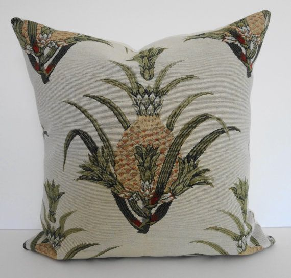 Pineapple Decorative Pillow Cover, Tropical Designer Throw Pillow Cover, 20x20 Cleanses ...
