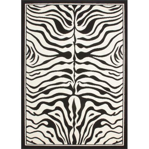 Gefunden bei Wayfair.de - Teppich USA Housten in Schwarz/ Weiß
