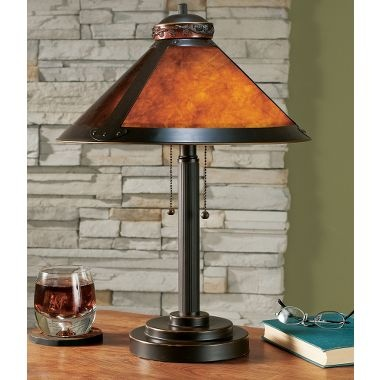 Grand river lodge mica table lamp at cabelas