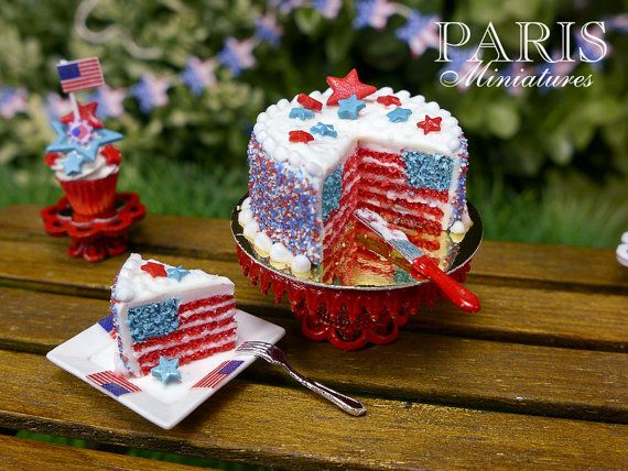 fourth of july mini cake
