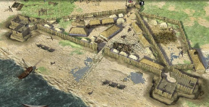Jamestown colony fort                                                       …