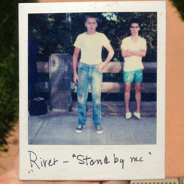 """""""River Phoenix on the set of Stand By Me"""" Rare Polaroid"""