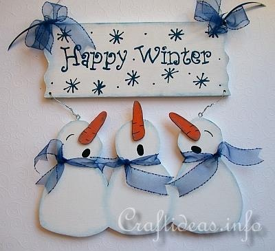 Happy Winter Snowmen Welcome Sign .... love the colors, could use cuter snowman pattern