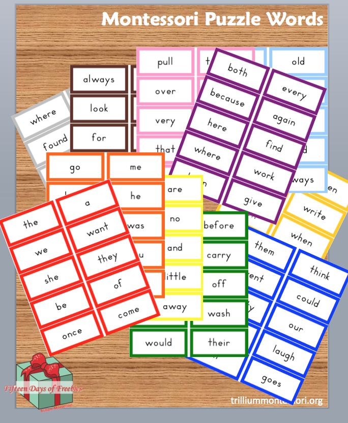 Montessori Puzzle Words (free for a limited time)