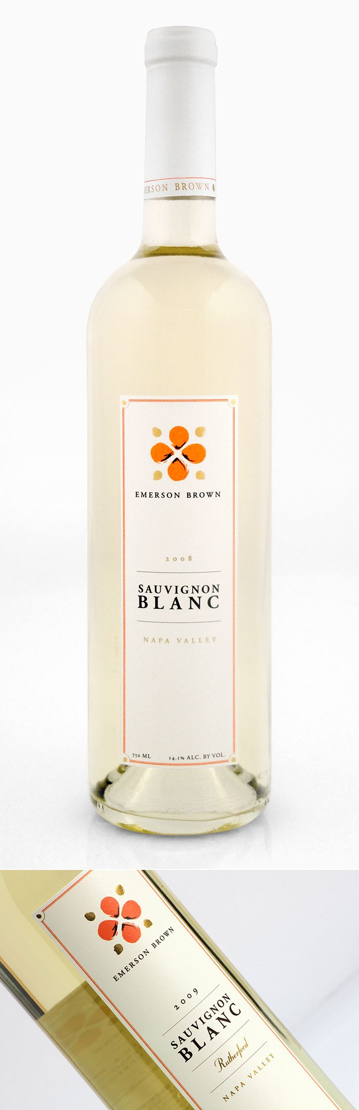 Emerson Brown Wines | Sauvignon Blanc Wine Label and Capsule | by designthis!