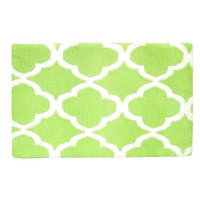 Fabbrica Home Quatrefoil Memory Foam Bath Rug Color: