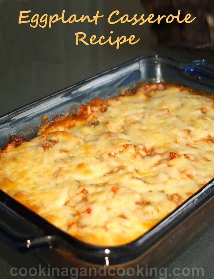 Do you like eggplant? Than this veggie Eggplant Casserole is for you! The eggplant casserole is delicious and any vegetarian would love this.