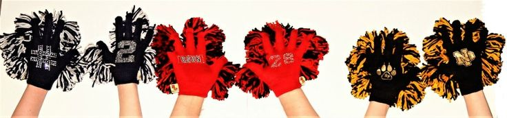 Customized Bubba Gloves with your son's jersey number or school logo!  #hockeymom #laxmom  #Highschoolhockey #hockeycheer #cheergloves #highschoolspirit #pompoms #cheerpoms #cheermoms #gotspirit #gameday #lovemyteam #cheerfundraiser #hockeyspirit  #varsityspirit