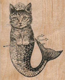 bois de tampons en caoutchouc chat sirène Gendarmerie 17863 sur Etsy, 4,96€