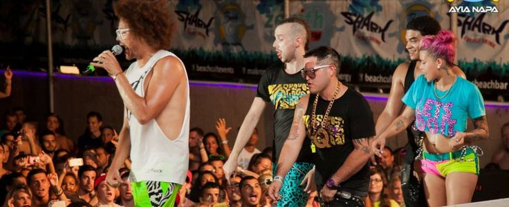 Red foo LMFAO on stage for Beach Cult in Ayia Napa 2013