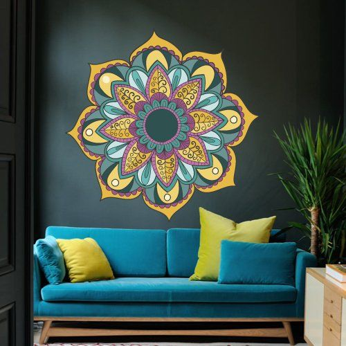 Full Color Wall Decal Mandala Model Map Ornament Star Buddha Yoga Flower  Mcol36 DecorWallDecals Http: