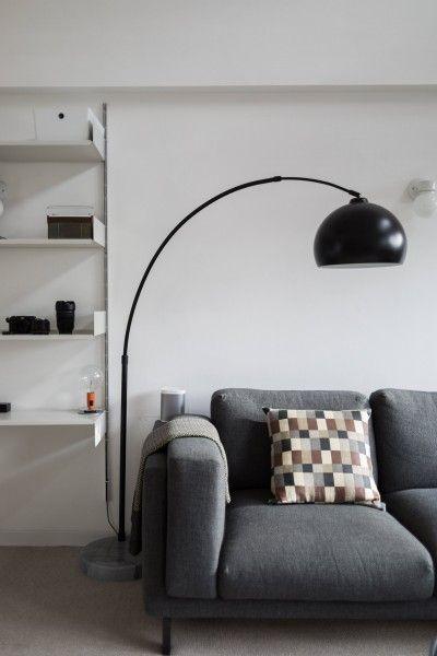 Bow große Bogenlampe, mattes Schwarz - MADE.COM | MADE.COM