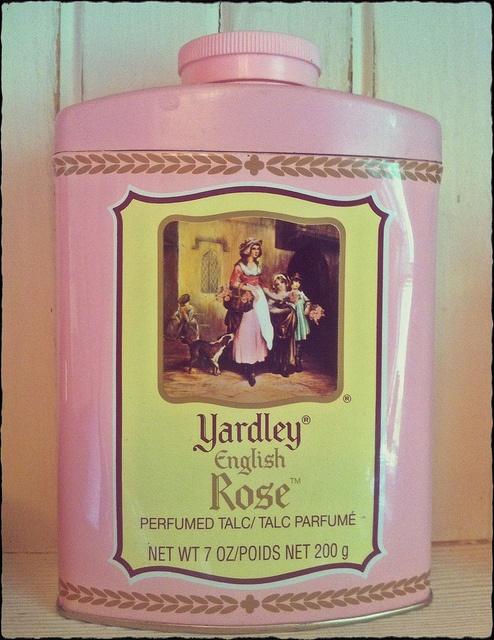 Yardley English Rose vintage powder tin by eg2006, via Flickr #vintage #powder #talc #tin #pink #rose #chic #shabby #bathroom #decor