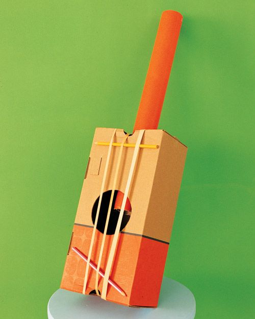 shoe box bango...several neat ideas for homemade instruments found here