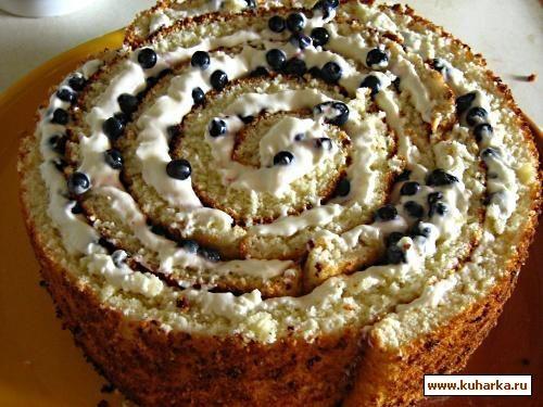 Рецепт: Малиновый торт