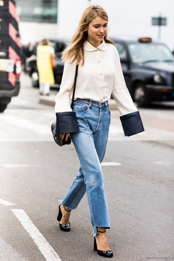 HOW TO WEAR STRAIGHT CUT JEANS