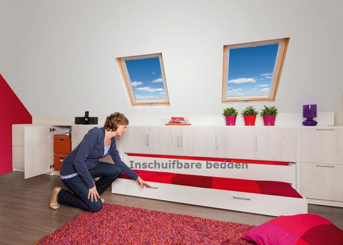 Zolder Slaapkamer Schuin Dak : Opbergsystemen zolder - schuin dak ...