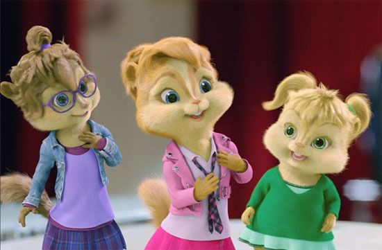 The Chipettes are a fictional group of female singing chipmunks (Brittany, Jeanette, and...