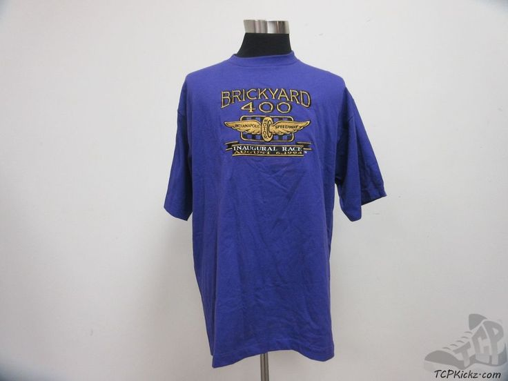 Vtg 90s logo athletic brickyard 400 indy motor speedway t for Indianapolis motor speedway clothing