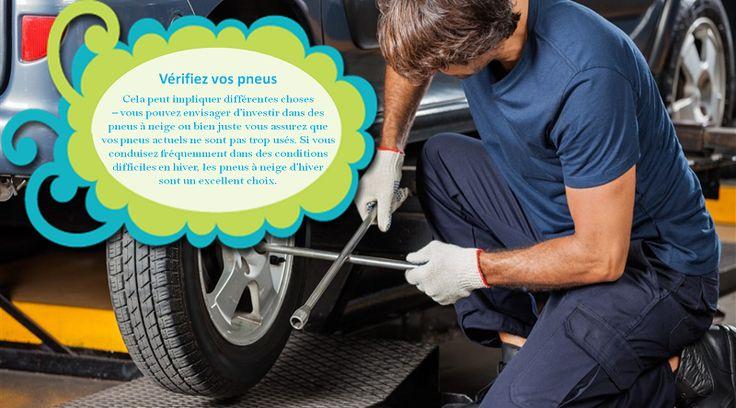 Installez un ensemble de pneus d'hiver Les pneus d'hiver vous permettent de vous arrêter jusqu'à 40% plus tôt que les pneus toutes saisons, ce qui vous permet d'être mieux équipé pour les conditions de conduite extrêmes de l'hiver. #pneusete