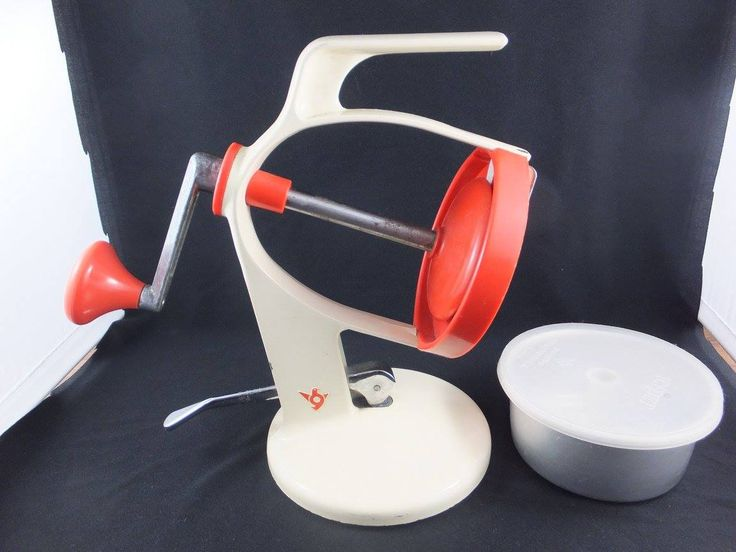 Funky, orange retro ice shaver. Selling at All Things Fine and Fanciful on FB