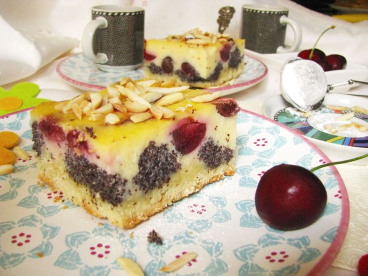 ceresnovo makovy kolac, mohnkuchen mit kirsch