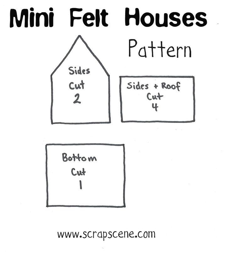 Tutorial: Miniature Felt Houses