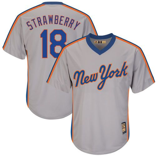 Darryl Strawberry New York Mets Majestic Alternate Cool Base Cooperstown Collection Replica Player Jersey - Gray