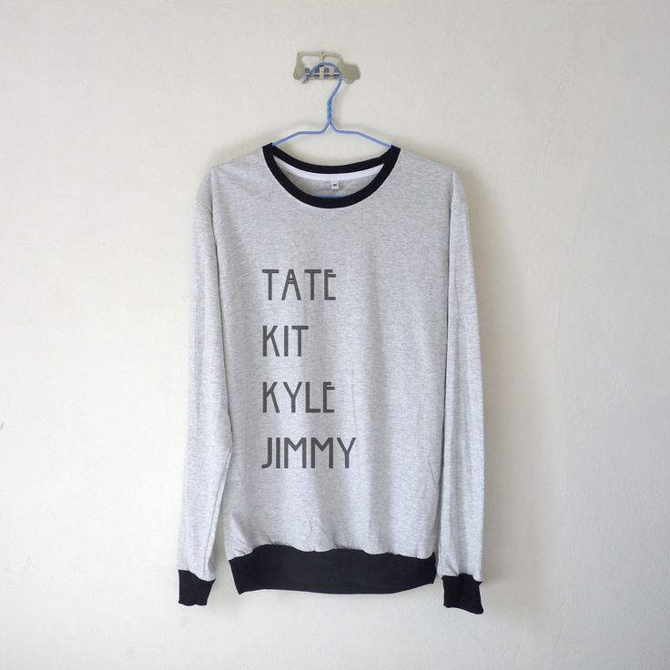 Tate Kit Kyle Jimmy Sweatshirt ; American Horror Story Sweater $15.99 ; Tate Langdon Kit Walker Kyle Spencer Jimmy Darlings  AHS #Evanpeters #AHS #AmericanHorrorStory Shop AHS Collection at http://kissmebangbang.com/product-category/american-horror-story