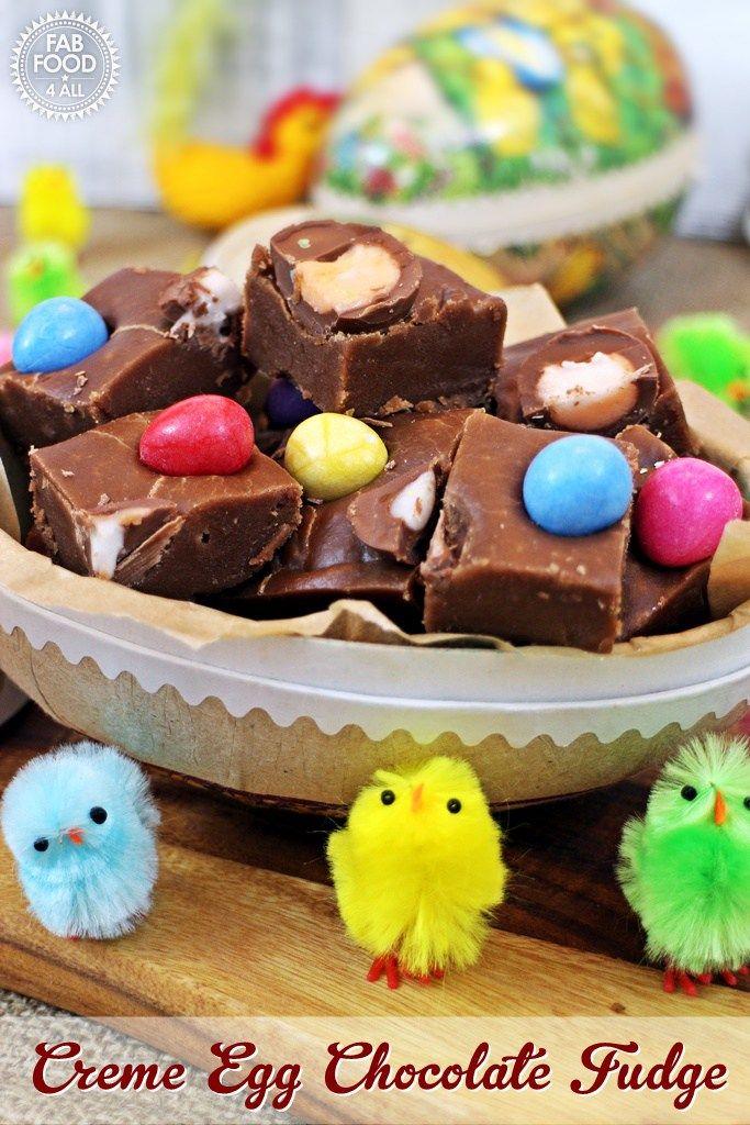 354 best baking easter cake ideas images on pinterest easter creme egg chocolate fudge negle Images