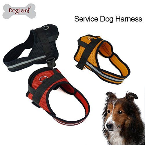DogLemi Dog Walking Vest Harness Reflective Rope Padded Dog Vest Dog Collar No More Pulling Travel Camping Hiking Service Dog Harness for Medium to Large Dog Size XS Red * Want additional info? Click on the image.