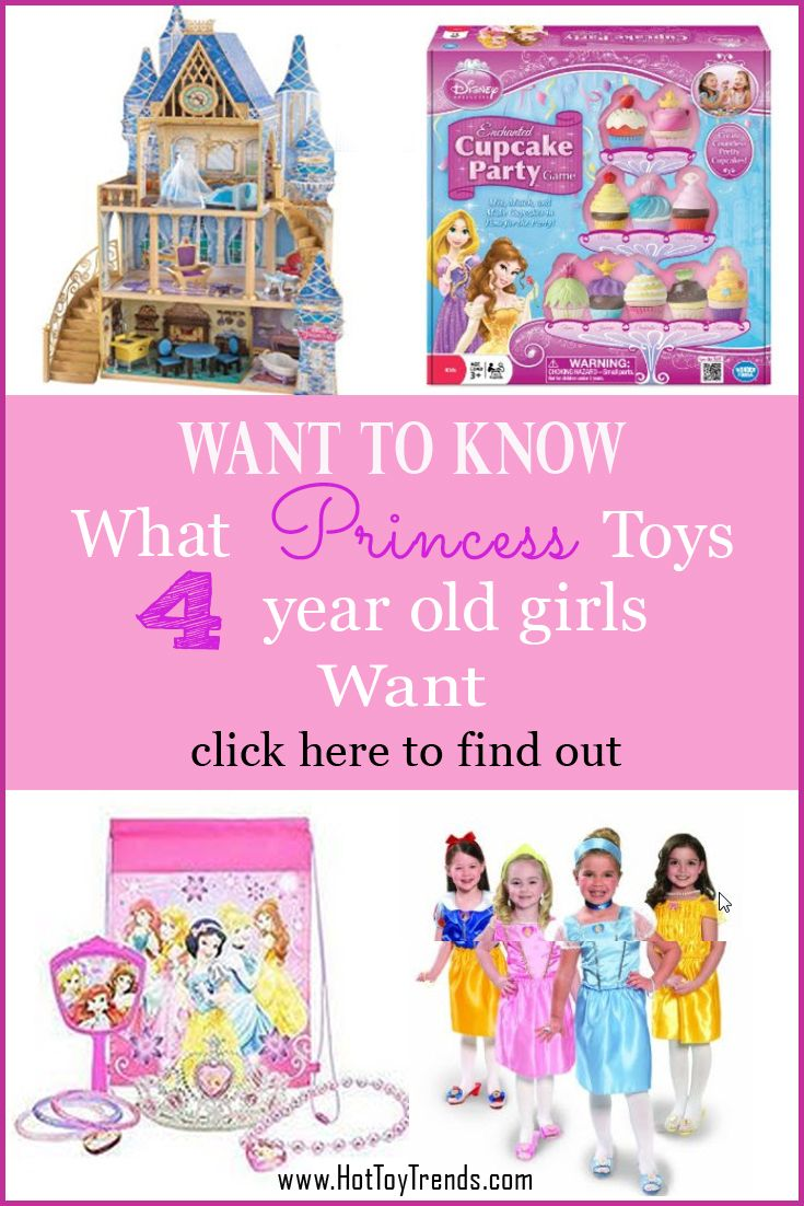 Every little girl likes to play Princess. Surround her with toys with these Princess toys 4 year old girls want. The list of toys is great for girls age 5 and 6 as well. Makes excellent Christmas gifts and birthday gifts.