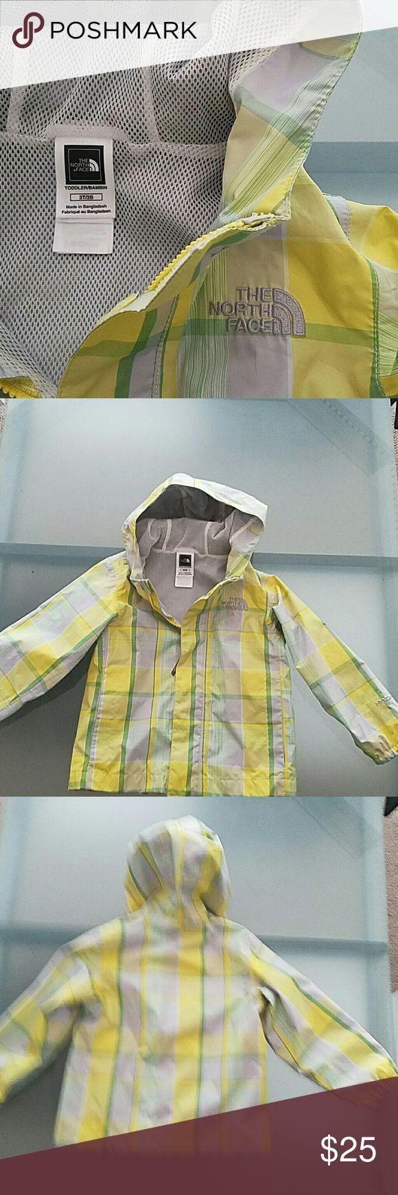 North Face Rain Jacket 3T Spring plaid, HyVent toddler rain jacket by The North Face. The North Face Jackets & Coats Raincoats