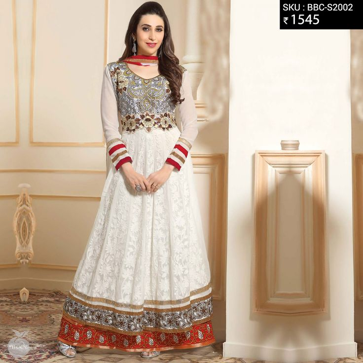 NEW IN's   Vibrant and colorful anarkalis at just 1545/-  #anarkalis #fashion #peachmode #onlinefashion #buynow #peachmode #karishmakapoor #white #red #getitnow #pinterest #pinit #womensfashion #womensclothing