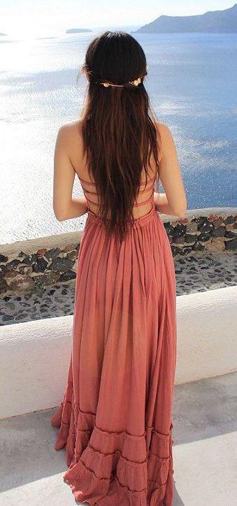 #summer #fashion / pink dress