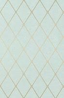 geometric wallpaper metallic blue T4169