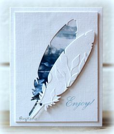 #papercraft #card Interesting technique - emboss the cut out, offset and pop up