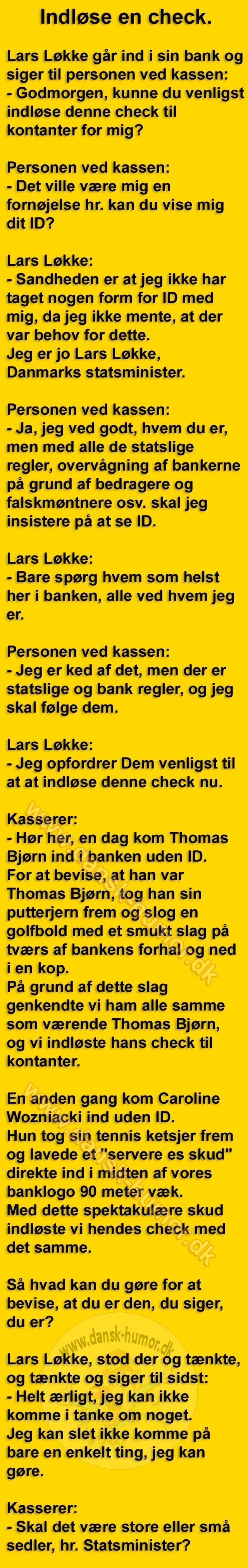 Lars Løkke i banken.