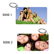 Photo  Uplaod  Dual  Sided  Keychain for Personalized Gifts