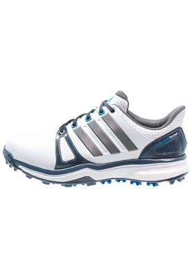 ADIPOWER BOOST 2 WD  - Golfschoenen - white/mineral blue/shock blue