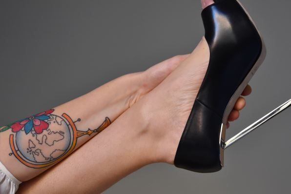 Rod Black, steel heel, nappa leather, tattoo, rock, rebel, sexy, made in Italy, Lamperti Milano