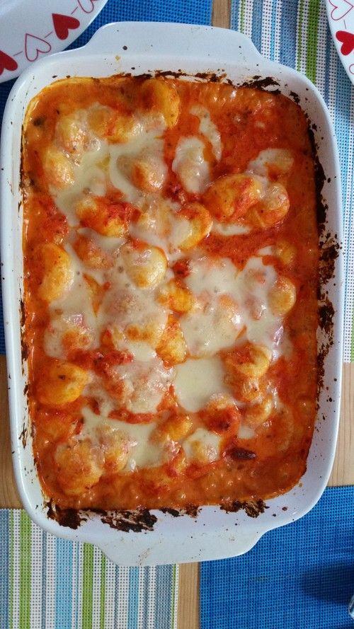 Gnocchi aus dem Ofen in Paprika - Tomaten - Sauce                                                                                                                                                                                 Mehr