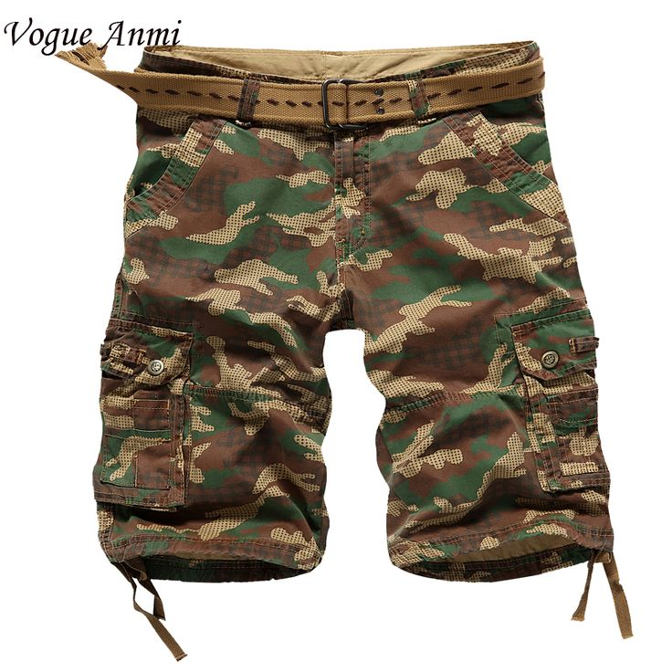 Vogue Anmi.Men cargo Shorts Bermuda Masculina de marca Men Casual Cargo Shorts men Camo Cargo Shorts Military Camouflage Short