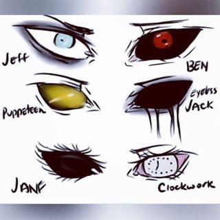 Where are slenderman's eyes XD<<< HE HAS NO EYES