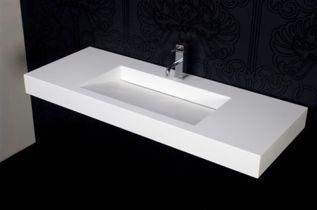 Blinq Solid wastafel 90x46 cm mat wit zonder kraangat