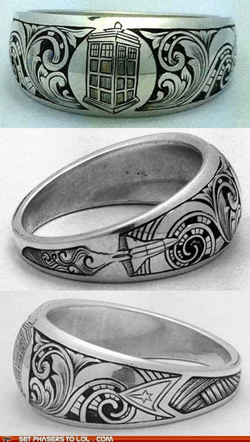 Doctor Who, Space Shuttle, and Star Trek on one awesome ring!! | I NEED THIS SANS DOCTOR WHO. MAYBE JUST MATH. OR STARS.