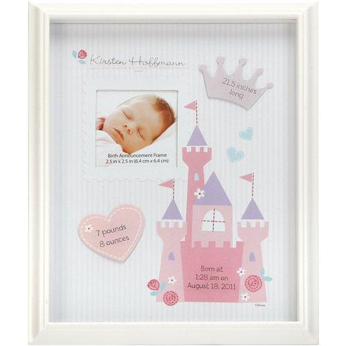 Disney Little Princess Birth Announcement Frame Stuff